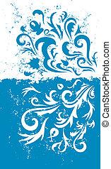 Grunge blauer Hintergrund