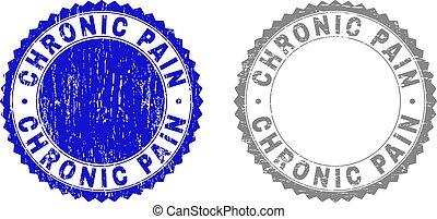 Grunge CHRONIC PAIN strukturierte Wasserzeichen