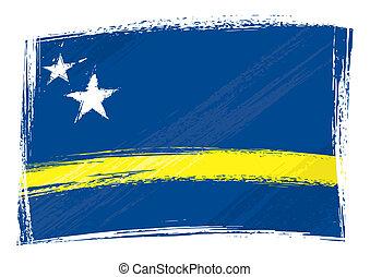 Grunge Curacao Flagge