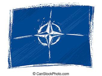 Grunge die NATO-Flagge