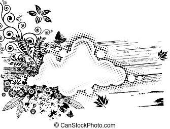 Grunge Florakomposition