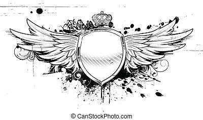 Grunge heraldischer Schild