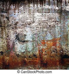 grunge, hintergrund, rusty-colored