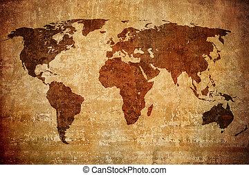 Grunge Karte der Welt