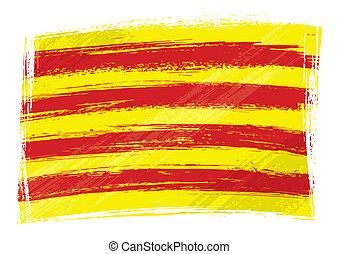 Grunge Katalonienflagge