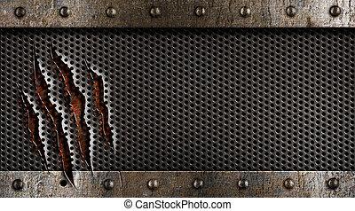 Grunge-Metal-Hintergrund