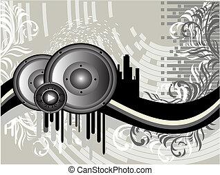 Grunge Musik Hintergrund