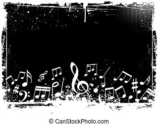 Grunge Musiknoten