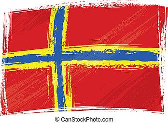 Grunge orkney Flagge