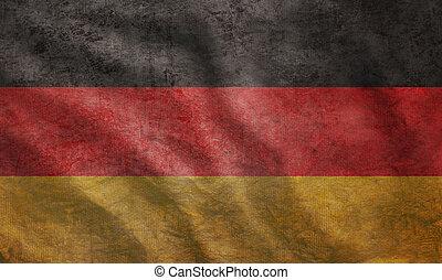 Grunge raue deutsche Flagge