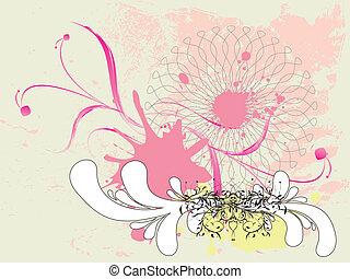 Grunge rosa Blumenschmuck