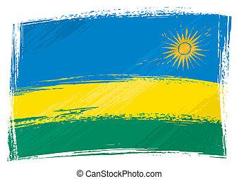 Grunge Ruanda Flagge.