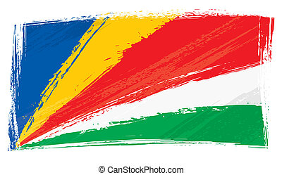 Grunge seychelles Flag.