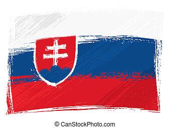 Grunge slowakia Flagge