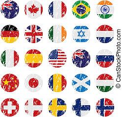 Grunge-Stil-Landflagge-Ikonen