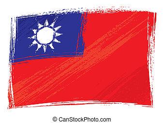 Grunge Taiwan-Flagge