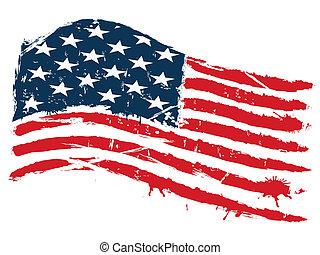 Grunge usa Flagge.