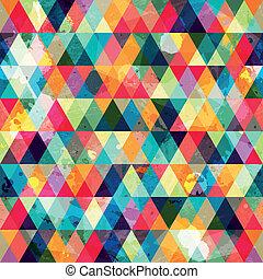 Grungefarbiges Dreiecksmuster nahtlos