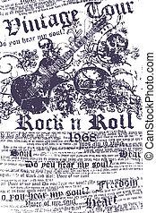 Grungy-Gitarre-Hintergrund