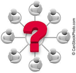 Gruppen-Hirnsturm-Antwort auf Frage
