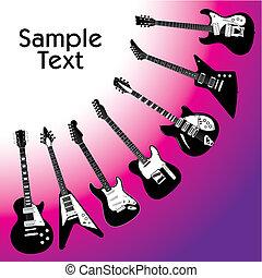 Guitar Hintergrund.