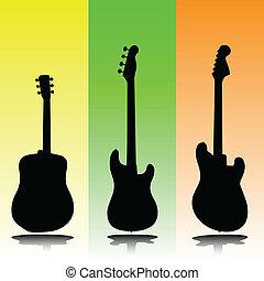 Guitar Vektor Silhouettes