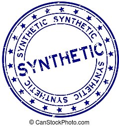 gummi, grunge, runder , synthetisch, siegel, wort, weißer hintergrund, blaues, briefmarke