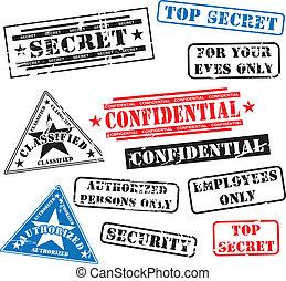 gummi, sicherheit, briefmarken