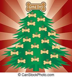 guten, weihnachtsbaum, hunden