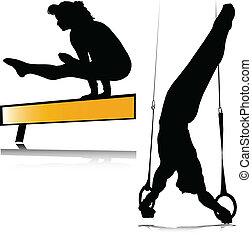 Gymnastik-Silhouette