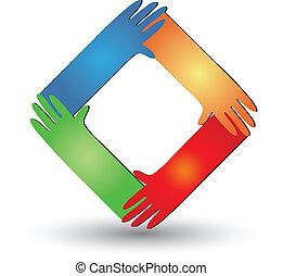 Hände helfen Logovektor