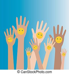 Hände hoch mit Smiles3