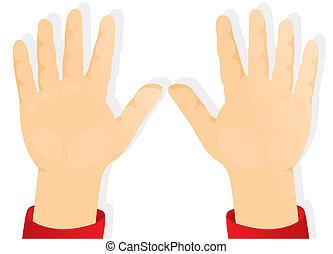 hände, kinder, vorwärts, handflächen