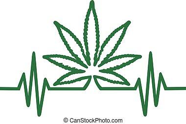 Häufigkeit mit Hanfblatt Marihuana.