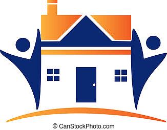 Häuser und Zahlen-Logo
