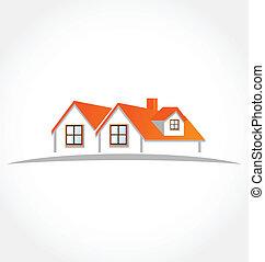 Häuser Wohnungen Vektorlogo.