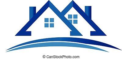 Häuserlogovektoren.