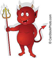 Hübscher roter Teufel