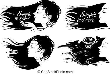 Hübsches Mädchen mit langen Haaren