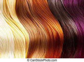 Haarfarbe, Palette