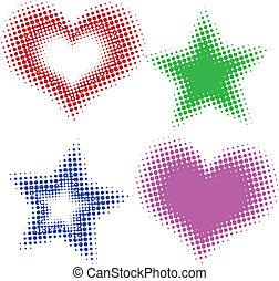 Halbe Herzen und Sterne