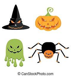 halloween, übel, charaktere