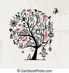 Halloween-Baum für dein Design