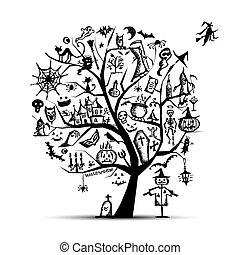 Halloween-Baum für dein Design.