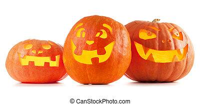 Halloween Jack O'Lantern Kürbisse.