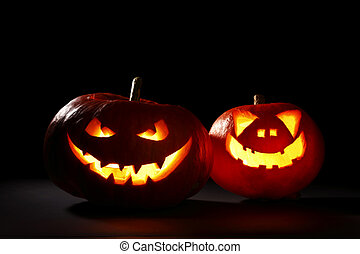 Halloween Kürbisse Jack-O-Lantern.