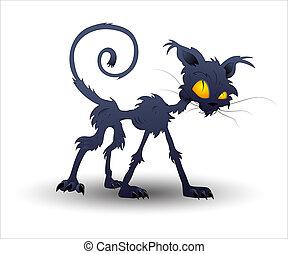 Halloween-Katzenvektor