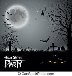 Halloween Party gruseliger Hintergrund