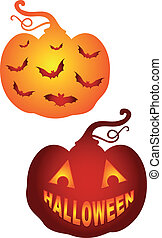 Halloween Pumkins, Vektor