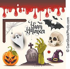 Halloween-Vektor-Ikonen
